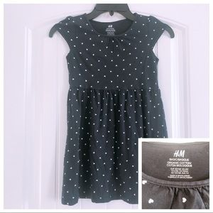 H&M Navy Blue Fit & Flare Dress Size 6-8y